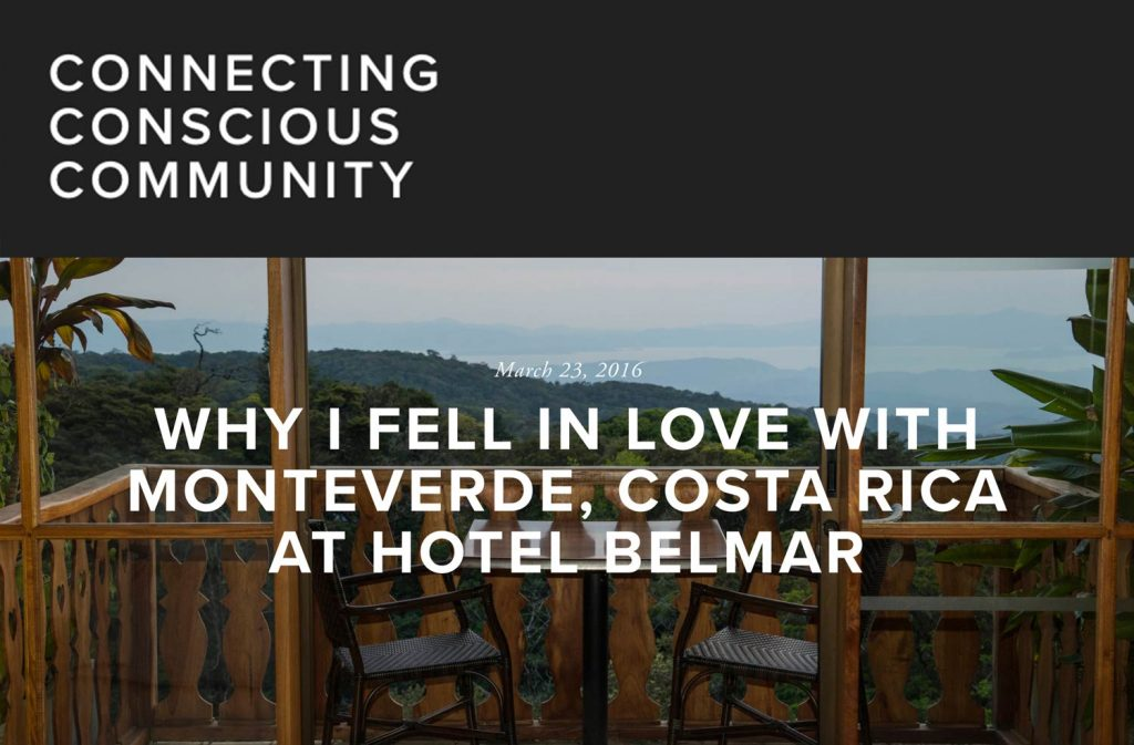 Article about Hotel Belmar on Connecting Conscious Community